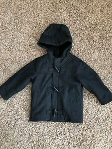 wide range special for shoe hot-selling cheap Details about Boy Old Navy Wool Zip FleeceLined Hooded Toggle Peacoat Coat  Toddler 2T Charcoal