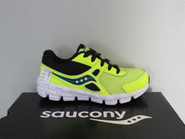 ca1981fe Kids Saucony Vortex Boys Citron/black Leather Mesh Athletic Shoes Size 12