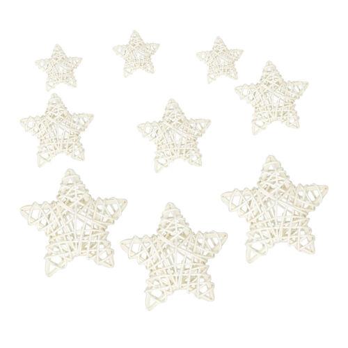 9Pcs Star rotin osier Canne Boules Fête De Mariage Maison Fleuriste bricolage Décoration