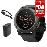 Garmin Fenix 5x Sapphire Multisport 51mm Gps Watch W/ Extended Warranty Bundle