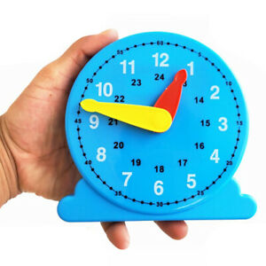 Children-Teaching-Clock-Learning-To-Tell-Time-Back-Rack-Educational-Clock