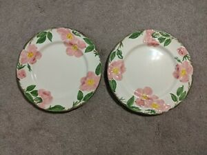 Vtg-Franciscan-Desert-Rose-Dinner-Plate-SET-of-8-Plates-Made-in-USA-1949-1958