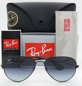 eacd194adf6 NEW GENUINE Rayban Sunglasses RB3558 002 8G 58 Black Grey Gradient ...