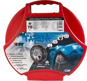 1 PAAR 12mm SCHNEEKETTEN (KN70) 13 - 17 ZOLL 195/65R14 185/60-15 195/70-13