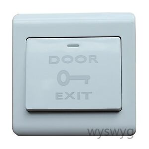 Image is loading Exit-Push-Release-Button-Switch-For-Electric-magnetic-  sc 1 st  eBay & Exit Push Release Button Switch For Electric magnetic Lock Door ...