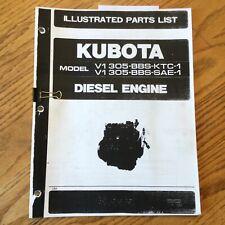 Kubota V1305 Bbs Ktc 1sae 1 Diesel Engine Parts Manual Book Catalog List Guide