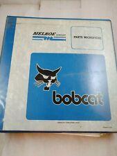 Bobcat Skid Steer Loader Excavator Dealer Parts Micro Fiche Binder 1992 2002