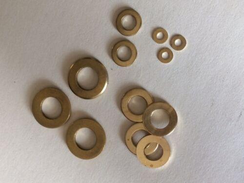Arandelas de latón macizo plana redonda forman una espesa para tornillos métricos M3 M4 M5 M6 M8 M10