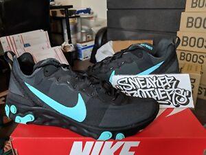 c13c62579b946 Nike React Element 55 Black Jade Teal Blue Aurora Green Running ...