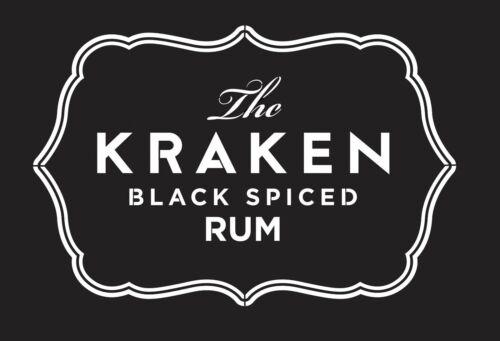 Alto detalle aerógrafo de plantilla Kraken Rum gastos de envío gratis