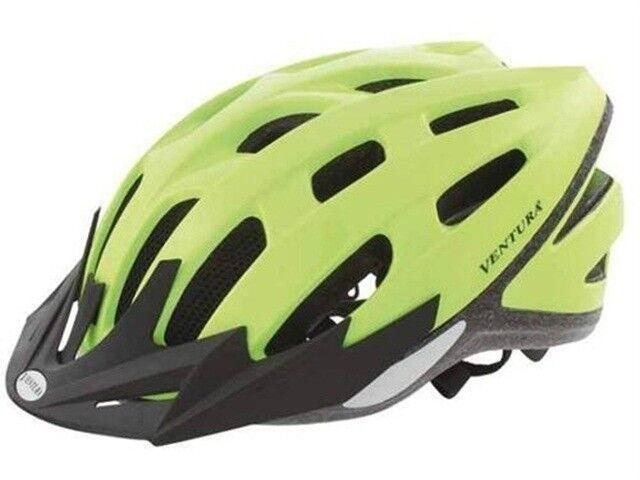 Fahrradhelm  SAFETY neonyellow  LED Gr  L 58-61cm Erwachsene