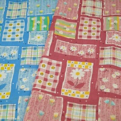 Flowers Patchwork And Spots Polycotton Fabric