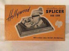 VINTAGE MOVIE FILM SPLICER 8/16mm PRECISION UNIVERSAL HOLLYWOOD STAINLESS STEEL