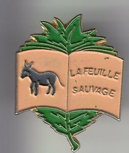 RARE-PINS-PIN-039-S-ANIMAL-ANE-DONKEY-PRESSE-LIVRE-EDITION-LA-FEUILLE-SAUVAGE-C4