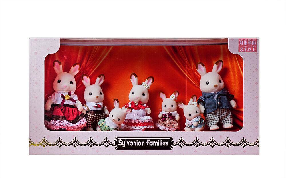Sylvanian Families Calico Critters Convención Exclusiva Chocolat conejo familiar