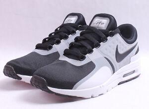 Details about Nike W Air Max Zero # 857661 102 White & Black Women SZ 6 12