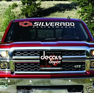 Chevy-SILVERADO-1500-2500-3500-Windshield-Decal-Banner-ANY-YEAR-MAKE