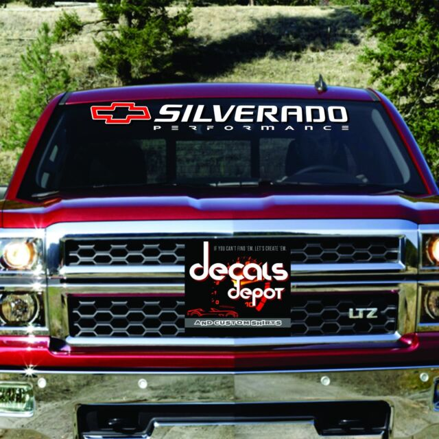 Chevy SILVERADO 1500 2500 3500 Windshield Decal Banner ANY YEAR MAKE & MODEL