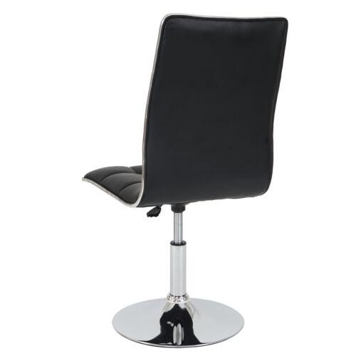 2x Esszimmerstuhl MCW-C41 Kunstleder schwarz Stuhl Lehnstuhl
