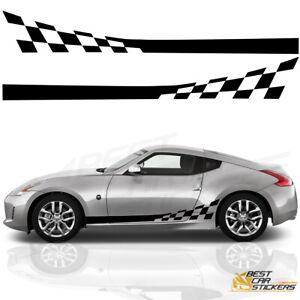 Fits-Nissan-350Z-370Z-Side-Racing-Stripes-Car-Stickers