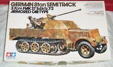 Tamiya 1/35 German 8ton Semitrack 3.7cm Flak 37 Armored Cab Type Model Kit