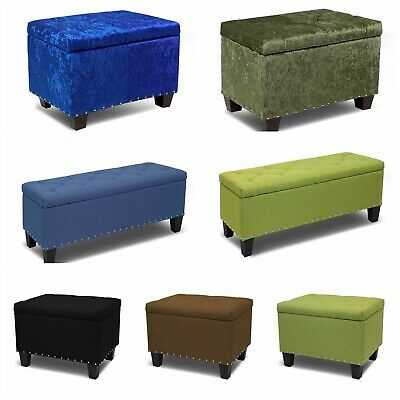 Storage Ottoman Bench Tufted Footrest Lift Top Pouffe Ottoman Coffee Table Seat Ebay