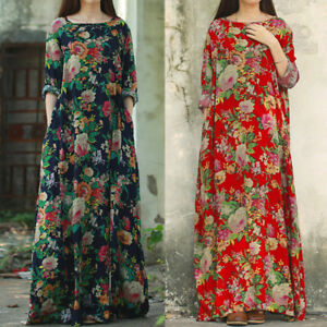 Casual Party Long Damen Oversize Kleider Holiday Maxikleid Ybg67yvf