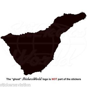 TENERIFE ISLAND Map-Shape, Canary Islands Spain Canarias Sticker ...