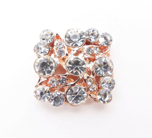 10 Rosa Oro Filigrana Cuadrado Diamante Adorno Ideal Para Invitaciones 2cm