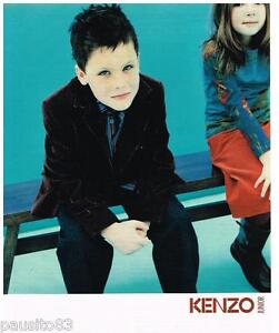 PUBLICITE ADVERTISING 105  2002  KENZO  haute couture enfants