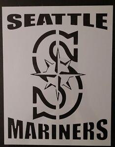 "Seattle Mariners 11/"" x 8.5/"" Custom Stencil FAST FREE SHIPPING"