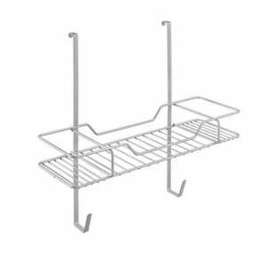 Hanging-Shelf-Organizer-Door-Rack-Einhangeregal-in-Silver-for-Bugelutensilien
