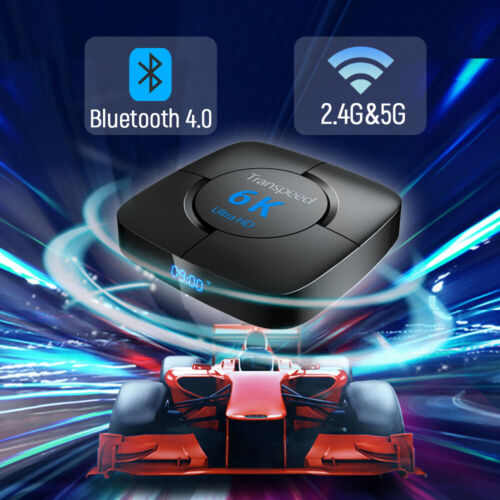 Transpeed Android 9.0 Bluetooth TV Box Google Voice Assistant Youtube 6K 3D Wifi