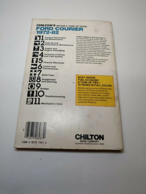 Chilton's Ford Courier 1972-82 Repair Tune up Guide