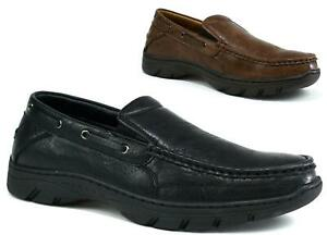 Mens-New-Slip-On-Wide-Comfort-Loafers-Moccasin-Driving-Boat-amp-Deck-Shoes-UK-Size