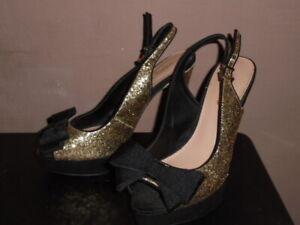 Miss KG Gold Glitter Stiletto Heel