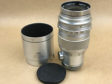 Steinheil Munchen 200mm f/4.5 Auto-Quinar Exakta Mount Lens w/ Hood - Nice