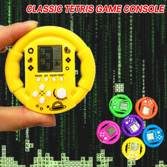 Handheld Tetris Game Console Steering Wheel Retro Tetris Game Player Educations