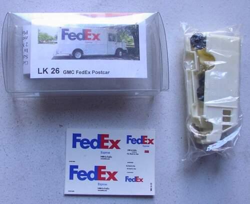 1:87 bs-design Resin GMC FedEx Postcar