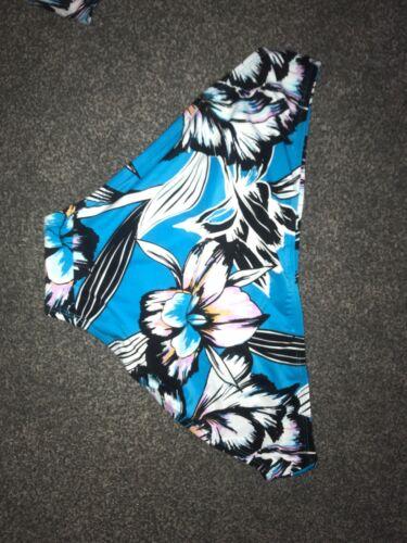 M/&S Hipsters Blue Floral Bikini Bottom UK Size 10 Bnwt Free P/&p Bargain