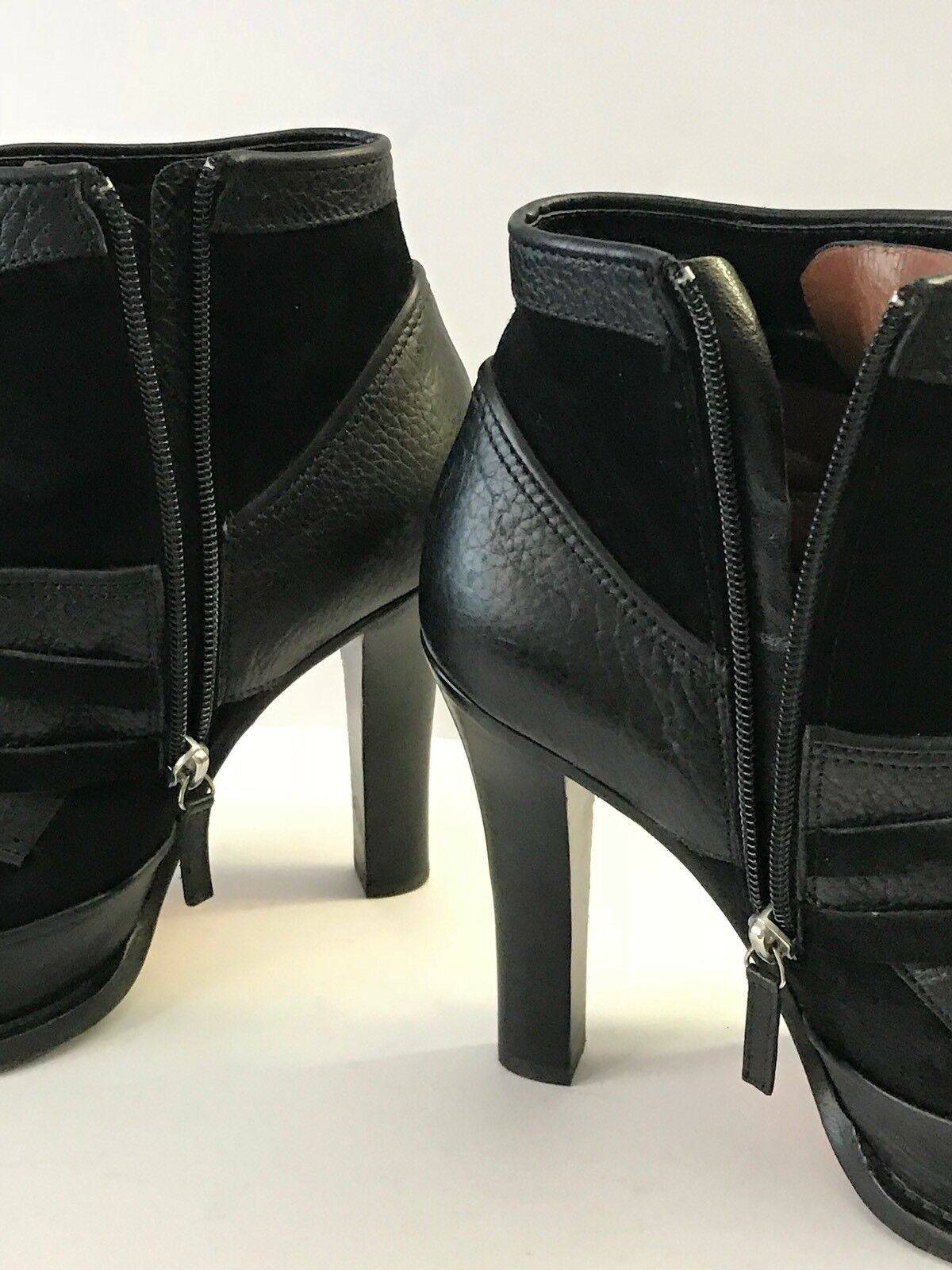 TABITHA SIMMONS Size 39 9 / 39 Size Nero Suede Pelle Platform Ankle Stivali Italy 7f1789