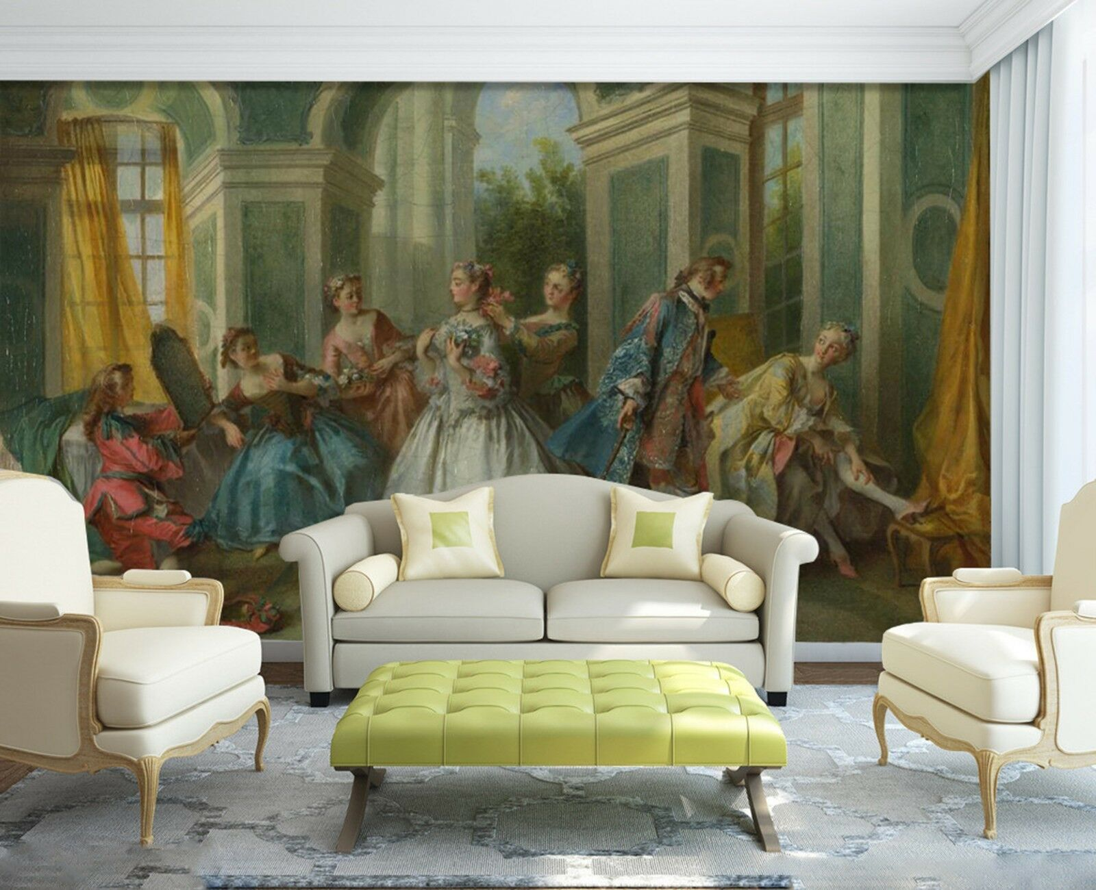 3D Schönheit Ölgemälde 8933 Tapete Wandgemälde Tapeten Bild Familie DE Lemon