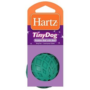 Hartz Rubber Ball with Bell for Tiny Dogs 1 ea (Pack of 6)