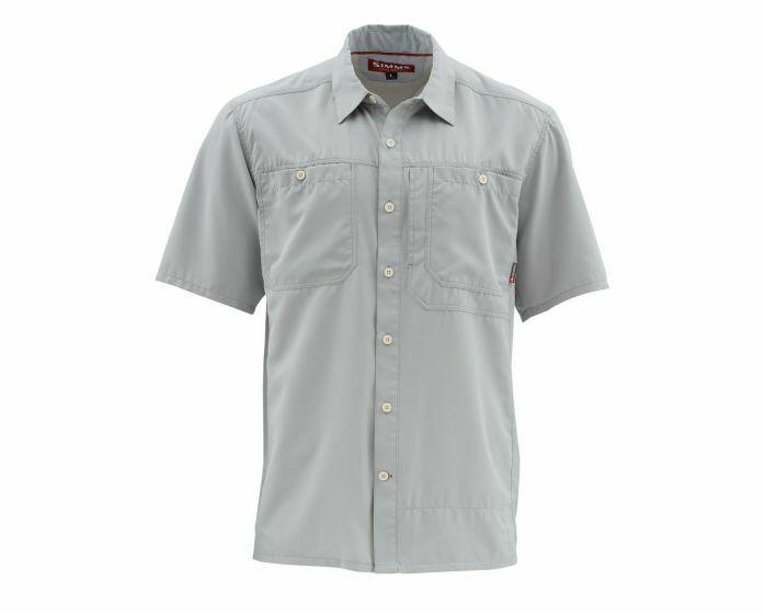 Simms - Ebbtide Short Sleeve Shirt -Sterling  Size 3XL - Closeout