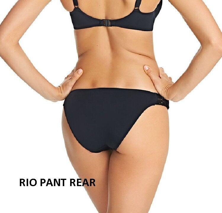 FREYA  dedicarmi dedicarmi dedicarmi al macramè Reggiseno Bikini Imbottito allacciatura dietro il collo-Set + RIO o Pantalone Classico-Nero 435a4d
