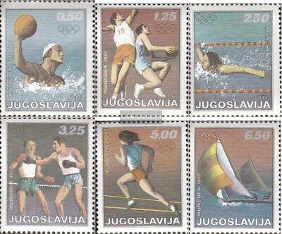 kompl.ausg. Treu Jugoslawien 1451-1456 Postfrisch 1972 Olympische Sommerspiele Gesundheit FöRdern Und Krankheiten Heilen