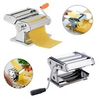 Pasta/noodle Maker 7 Stainless Steel Making Machine Dough Roller + Handle Eh7e