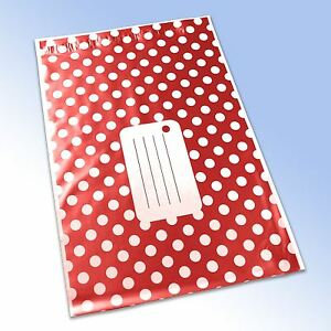 1-Red-Polka-Dot-Printed-Self-Seal-Plastic-Mailing-Bag-250x350mm-10x14-034