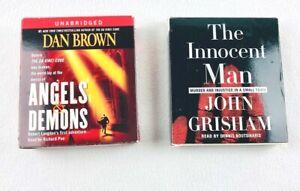 2-Books-on-Tape-Angels-amp-Demons-Dan-Brown-The-Innocent-Man-John-Grisham
