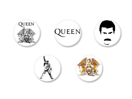 Lot Magnet Aimant Ø38mm Queen Freddy Mercury UK Rock We Will Rock You
